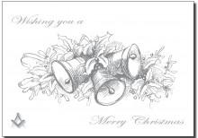 PJ 989 xmas silver bells & mistletoe for web