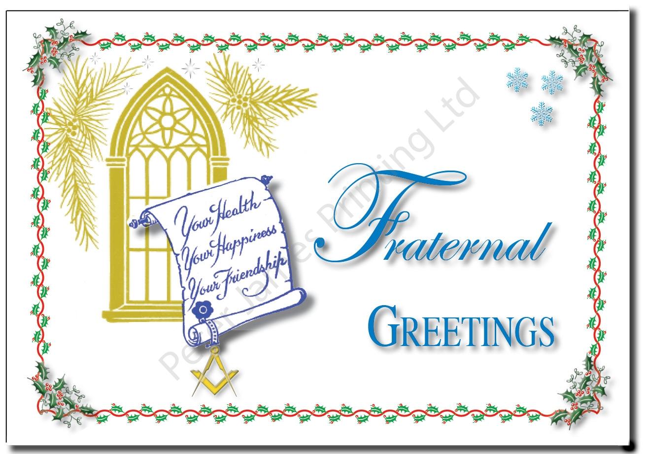 Fraternal Greetings Christmas Card
