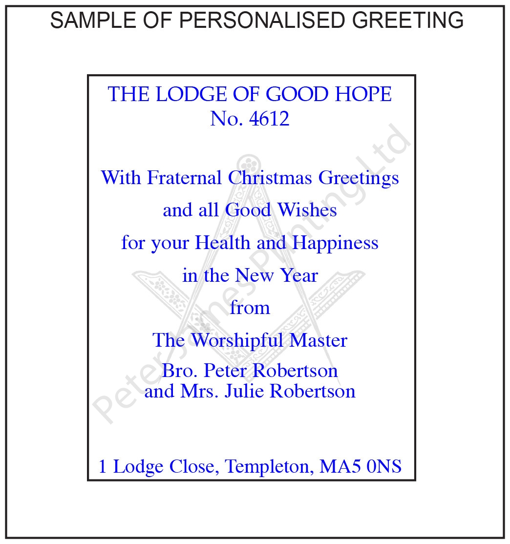 Fraternal greetings christmas card example greeting sample personalised xmas insert chapter m4hsunfo