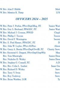 Apron Installation Insert Officers