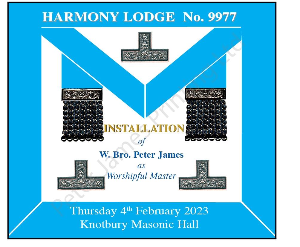 Masonic Apron Menu Card - Peter James Printing Ltd