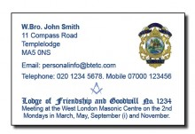Masonic Meeting-Business Card
