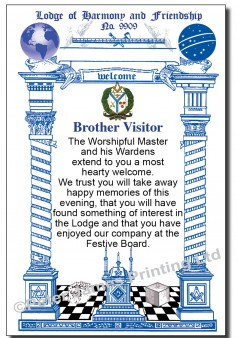 Lodge Visitors Welcome Cards