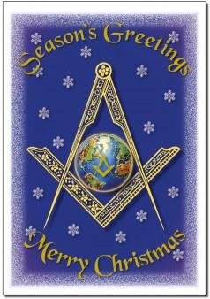 1714A  Seasons Greetings Globe