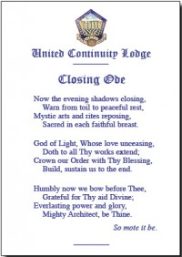 opening & Closing ODES close